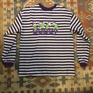 The Disney Store purple striped Dopey shirt large